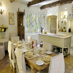 What a pretty little french kitchen!