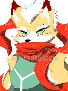 Fox with his red scarf Shining Tears, Fox Mccloud, Dragon Wolf, Star Fox, Art Memes, Video Game Characters, Red Fox, Dark Souls, Super Smash Bros