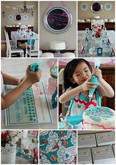 Cake decorating party collage by monicapaulclaireren, via Flickr