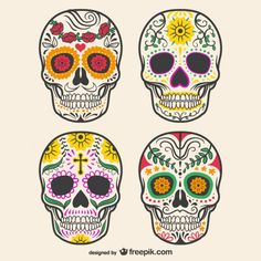 2 x Sugar Skull Vinyl Sticker Decal Laptop Car Bike Helmet Girls Gift Sugar Skull Makeup, Sugar Skull Art, Sugar Scull, Candy Skulls, Mexican Sugar Skulls, Plastic Fou, Fond Design, Mexican Tattoo, Skull Decor