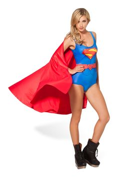 Superman Cape Suit by Black Milk Clothing $110AUD