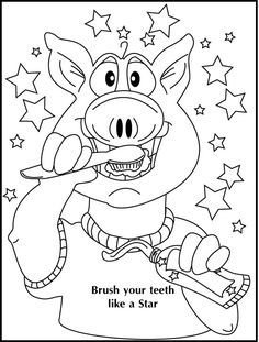 teeth coloring pages | brush your teeth coloring page | Dental ...