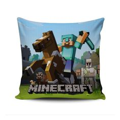 Diamond Steve Minecraft Creeper #43 Custom Kids Zippered Cushion Throw Pillow Case