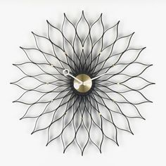 Nelson Sunflower Clock | Home Decor, Midcentury and Contemporary Furniture Design Inspiration | Couch Potato Company