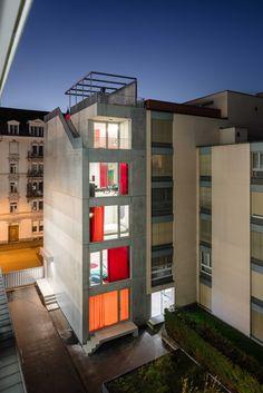 Preis: ELLI Wohnhaus und Atelier, Holzer Kobler Architekturen, zweikant architekturen, Hofseite, © Radek Brunecky