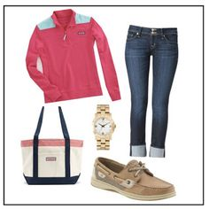 Preppy Comfort - Perfect for fall classes!