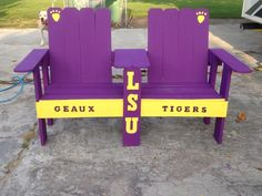 Ordered this! I hate that the girls and I will miss the razorbacks but at least we will be in Florida for 5 days! Louisiana Homes, Louisiana State University, University Of Georgia, Lsu Tigers Football, Saints Football, Backyard Projects, Outdoor Projects, Reading Park, Lsu Gear