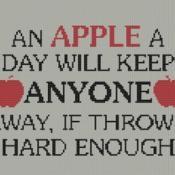 Apple A Day Cross Stitch Pattern  - via @Craftsy