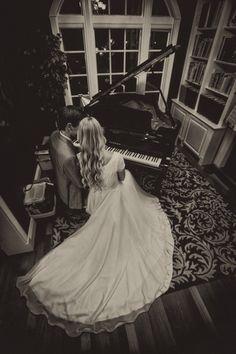 Bride & Groom at the Piano Las Vegas, NV eWattsPhotography.com 2014