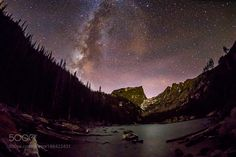 The Milky Way rising in the western sky over Dream Lake in Colorado's Rocky Mountain National Park. by jdanphoto via http://ift.tt/2hGQRdM