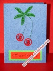 Quilled Cherries Birthday Card