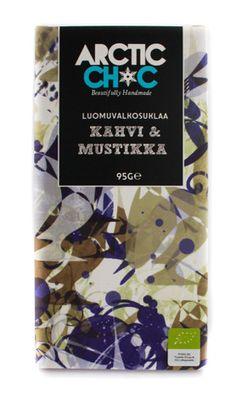 White Chocolate Coffee & Blueberry bar #organic #handmade #chocolate #finland #coffee #blueberry