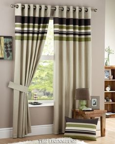 HARVARD HEAVY CURTAINS GREEN RING TOP EYELET .SAVE 30%.NEXT DAY DELIVERY in Home, Furniture & DIY, Curtains & Blinds, Curtains & Pelmets | eBay