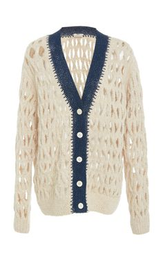 Cable Knit Cardigan by EDUN for Preorder on Moda Operandi