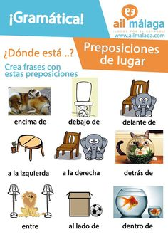 #Prepositions are really useful when you want to be more #precise about where something is :) #LearnSpanish #SpanishGrammar #SpanishSchool
