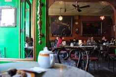 Cafe Reggio This picturesque cafe hideout exudes romance with its antique decor and storied past. This is, after all, where Kerouac used to hang. Perfect for a coffee date—and a history lesson. 119 MacDougal Street (between West 3rd Street and Minetta Lane); 212-475-9557. Photo via Flickr. #refinery29 http://www.refinery29.com/date-night-restaurants-nyc#slide-2