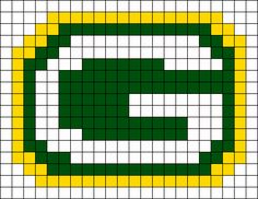 Green Bay Packers Logo Perler Bead Pattern / Bead Sprite