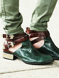 It seriously could not be better :: Free People Overland Croc Ankle Boot