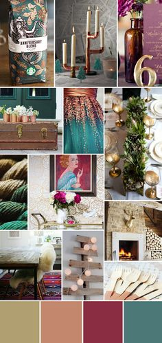 This is the moodboard that inspired the whole party! We went with a palette of plum, turquoise, copper and metallics.