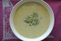 Potato Leek Soup (gluten-free, dairy-free, vegan). Great for energy or recovering from a cold. Saute the leeks for extra time for added sweetness and add half a cup of sherry for added richness.