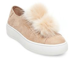 These shoes is life! Theyre so cute! Pom-Pom Shoes from Steve Madden