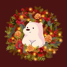 'Icy Christmas' by BeansAreEvil Cute Galaxy Wallpaper, Xmas Wallpaper, Cute Christmas Wallpaper, Cute Panda Wallpaper, Cute Disney Wallpaper, Cute Wallpaper Backgrounds, Wallpaper Iphone Cute, Pretty Wallpapers, Cartoon Wallpaper
