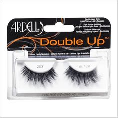 False eyelashes even au natural makeup gals will love