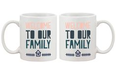 Welcome to Our Family Coffee Mugs for Daughter in Law or Son in Law Cute Gifts