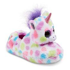 9b311f8202e Girls  TY Beanie Boo Wishful the Unicorn Loafer Slippers - Multi-Colored  Girls Unicorn