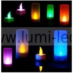 24 bougies led multicolore effet flamme bougies led. Black Bedroom Furniture Sets. Home Design Ideas
