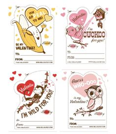 Hello Lucky does the best cards--and now the best free printables for Valentines Day. Love the retro designs!
