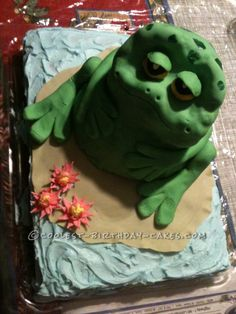 Coolest Frog Birthday Cake... This website is the Pinterest of birthday cake ideas