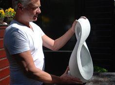 Jan van der Laan beelden - Twisted oval
