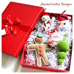 Free Crochet Ornaments Tutorial By AnnooCrochet Designs