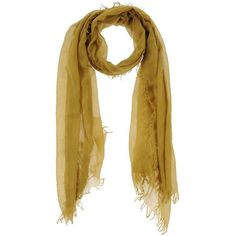 American Vintage Stole ($40) ❤ liked on Polyvore featuring accessories, scarves, ochre, lightweight scarves, fringe scarves, american vintage and fringed shawls