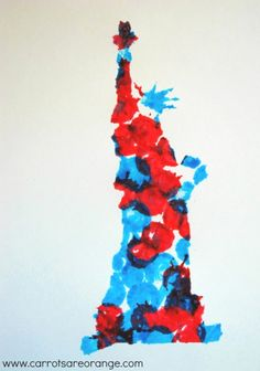 Kids Statue of Liberty Art - Perfect for 4th of July