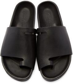 5c07899f90b8 MALE SHOES IDEAS · Rick Owens - Black Granola Sandals Rick Owens Sandals