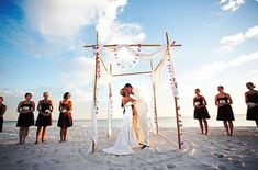 beach wedding alter. I like the picture idea!  this would be so beautiful to do in Peru with Raul's family. :)