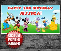 Mickey Mouse Clubhouse Custom Banner! So Cute!
