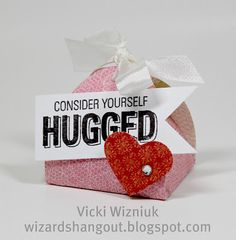 Valentine - Hershey Kisses Holder.  by Vicki Wizniuk, CTMH Independent Consultant