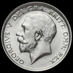 1914 George V Silver Half Crown, Scarce, EF #2