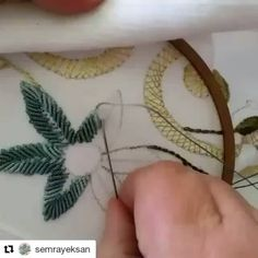 Couture Details, Leaf Tattoos, Dream Catcher, Sewing Projects, Diy, Embroidery, Instagram Posts, Embroidery Techniques, Bricolage
