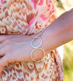 Hammered Silver Circle Bracelet   Jewelry Bracelets   Andrea Wysocki Jewelry   Scoutmob Shoppe   Product Detail