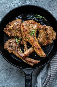 Juicy succulent lamb chops take minutes to cook. Simply season, rub with a simple garlic and herb marinade and pan fry. Perfect for date night!