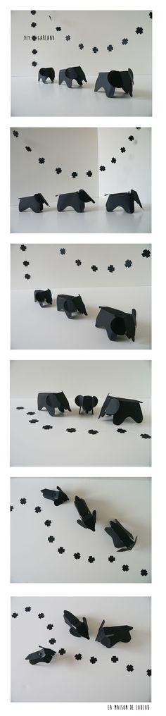 FREE printable DIY paper elefant template