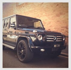 An awesome blacked out G-wagon in Camperdown, Sydney.