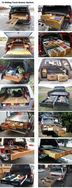 14 Sliding Truck Drawer System