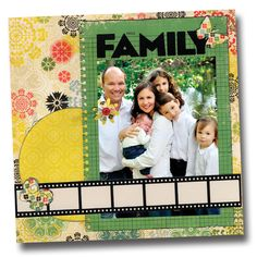 NSD Family Film Strip Die Cut Layout