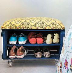 11 Ideias criativas para organizar sapatos   CUSTOMIZANDO.NET - Blog de customização de roupas, moda, decoração e artesanato por Mariely Del Rey
