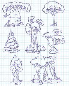 dibujos de baobabs - Buscar con Google